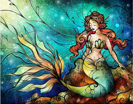 Malen nach Zahlen Bild Meerjungfrau - WD165 von Sonstiger Hersteller