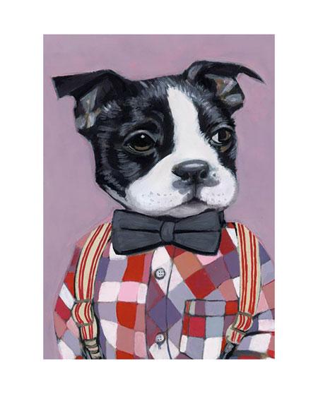 Malen nach Zahlen Bild Hund in Hemd - WD191 von Sonstiger Hersteller