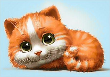 Malen nach Zahlen Bild Süßes Kätzchen - WD194 von Sonstiger Hersteller
