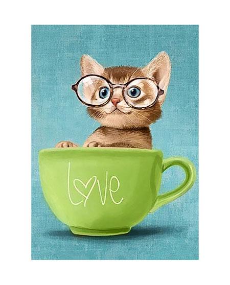 Kätzchen in Tasse