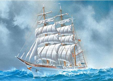 Yacht im Wind
