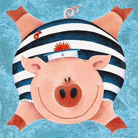 Malen nach Zahlen Bild Fröhliches Schwein - WD2292 von Sonstiger Hersteller