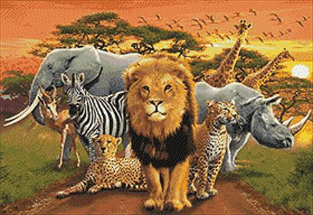 Malen nach Zahlen Bild Afrikanische Tiere - WD2403 von Sonstiger Hersteller
