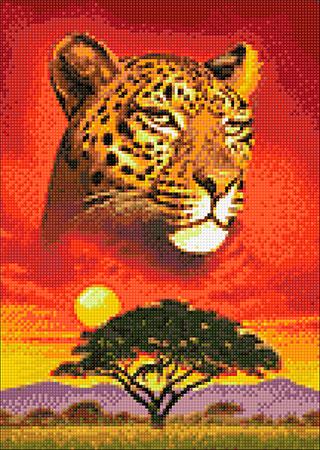 Malen nach Zahlen Bild Herrscher der Savanne - WD2406 von Sonstiger Hersteller