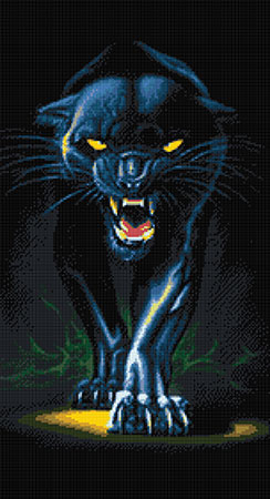Malen nach Zahlen Bild Anpirschender Panther - WD2409 von Sonstiger Hersteller