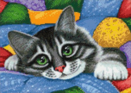 Malen nach Zahlen Bild Farbenfrohe Patchwork-Decke - WD2420 von Sonstiger Hersteller