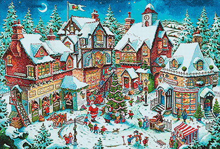 Malen nach Zahlen Bild Weihnachtstrubel - WD2429 von Sonstiger Hersteller