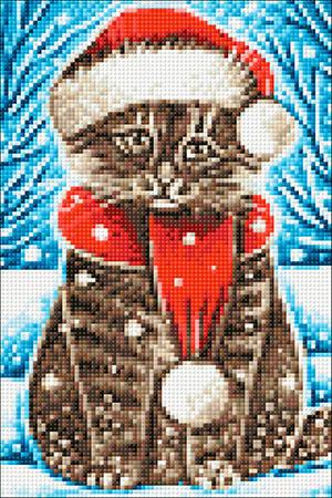 Malen nach Zahlen Bild Weihnachtskatze - WD2436 von Artibalta