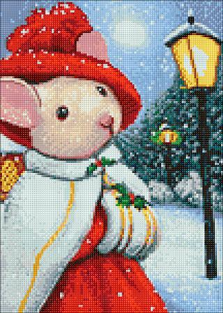 Malen nach Zahlen Bild Adelige Mäusin - WD2438 von Sonstiger Hersteller