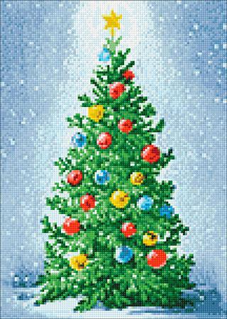 Malen nach Zahlen Bild Weihnachtsbaum - WD2439 von Sonstiger Hersteller