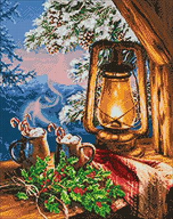 Malen nach Zahlen Bild Gemütlicher Abend in den Bergen - WD2448 von Artibalta