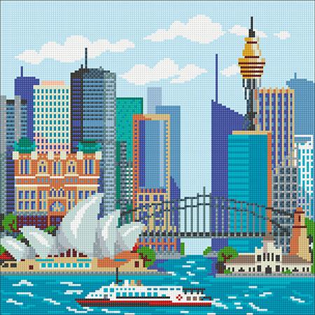 Malen nach Zahlen Bild Sydney - WD2449 von Sonstiger Hersteller
