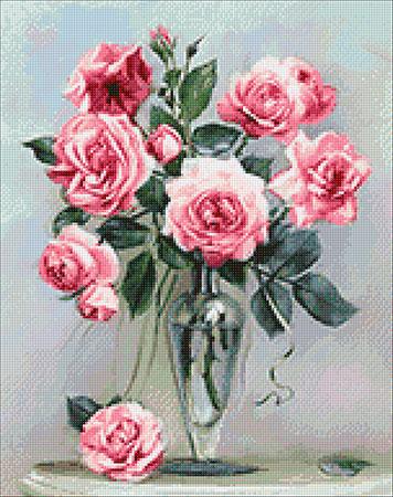 Malen nach Zahlen Bild Rosen auf dem Marmortisch - WD2454 von Sonstiger Hersteller