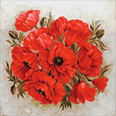 Malen nach Zahlen Bild Leuchtend rote Mohnblumen - WD2470 von Sonstiger Hersteller