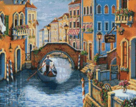 Malen nach Zahlen Bild Romantisches Venedig - WD2484 von Sonstiger Hersteller