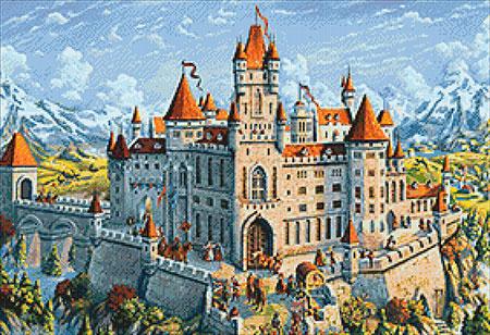 Malen nach Zahlen Bild Magisches Schloss - WD2489 von Sonstiger Hersteller