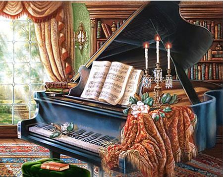 Malen nach Zahlen Bild Altes Klavier - WD253 von Sonstiger Hersteller