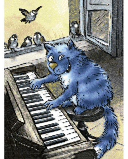 Malen nach Zahlen Bild Katzenmusik - WD266 von Sonstiger Hersteller