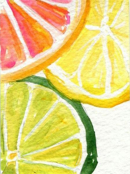 Malen nach Zahlen Bild Frische Zitronen - WD281 von Sonstiger Hersteller