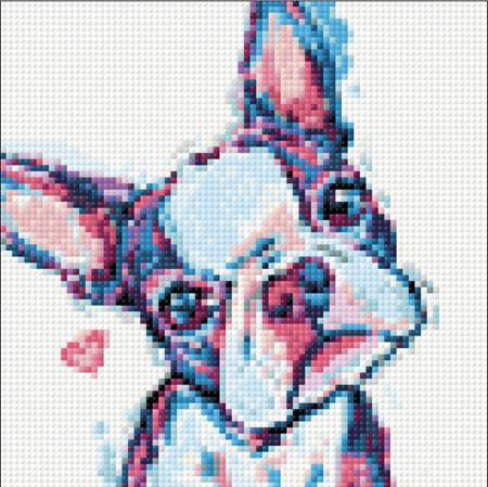 Malen nach Zahlen Bild Ein bunter Hund - WD287 von Sonstiger Hersteller