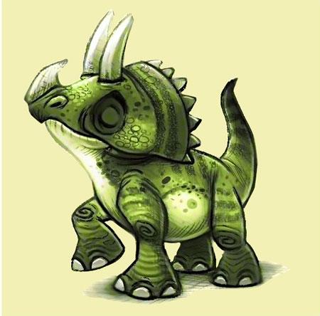Fröhlicher Dino