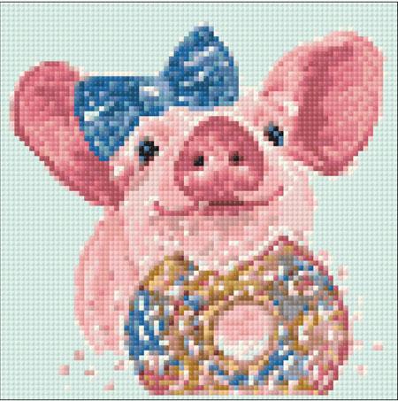 Malen nach Zahlen Bild Süßes Schweinchen - WD295 von Sonstiger Hersteller