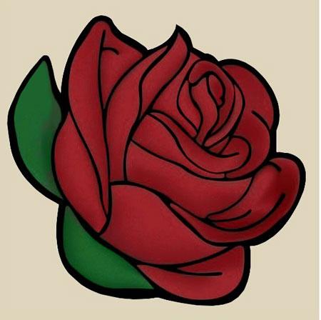 Malen nach Zahlen Bild Rote Rosen - WD299 von Sonstiger Hersteller