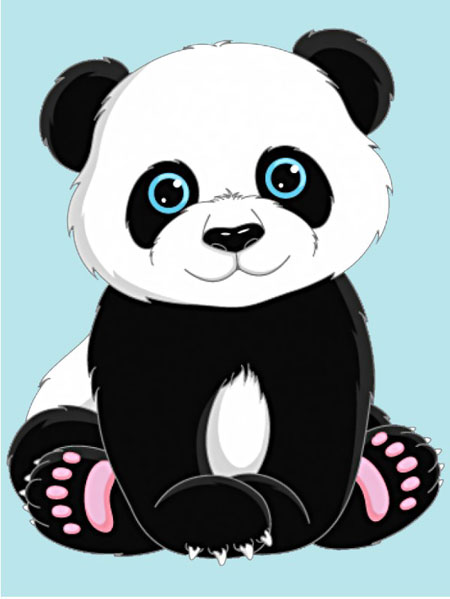 Malen nach Zahlen Bild Süßer Panda - WD303 von Sonstiger Hersteller