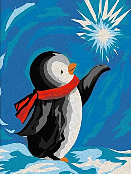 Malen nach Zahlen Bild Süßer Pinguin - WD306 von Sonstiger Hersteller