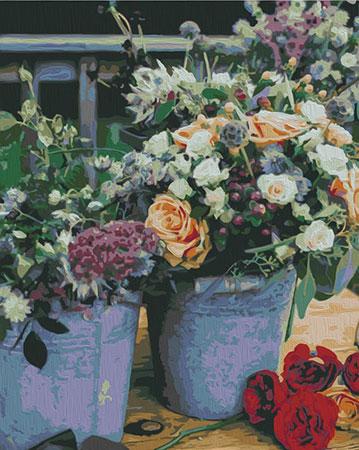 Malen nach Zahlen Bild Blumen - T40500335 von Sonstiger Hersteller