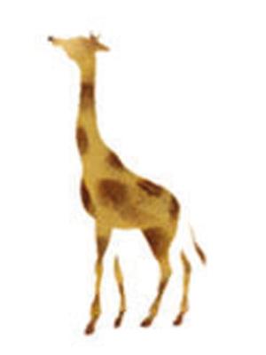 Selbstklebende Schablone Giraffe 7 X 10 Cm Von Sonstiger Hersteller