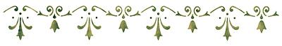selbstklebende schablone schmucklilien 11 x 70 cm von. Black Bedroom Furniture Sets. Home Design Ideas