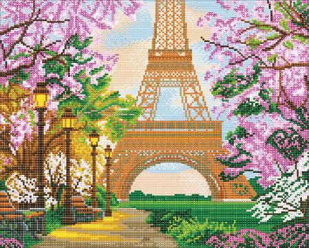 Malen nach Zahlen Bild Frühling am Eiffelturm - CAK-A102L von Sonstiger Hersteller