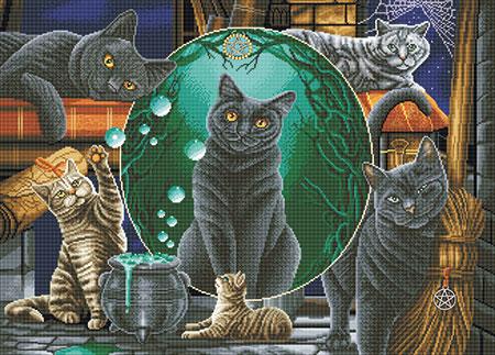 Malen nach Zahlen Bild Magische Katzen - CAK-A105XL von Sonstiger Hersteller