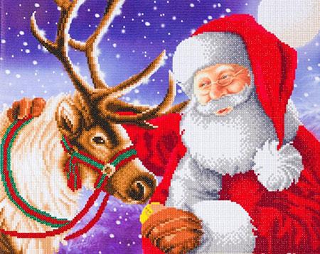 Malen nach Zahlen Bild Der beste Freund des Weihnachtsmannes - CAK-A110L von Craft Buddy