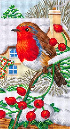 Malen nach Zahlen Bild Rotkehlchen (Teil 3/3 eines Triptychons) - CAK-A115TT von Craft Buddy