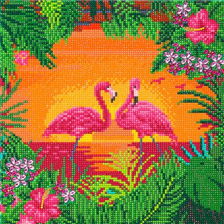 Malen nach Zahlen Bild Stolze Flamingos - CAK-A117M von Craft Buddy