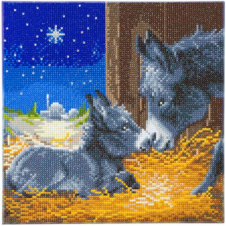 Malen nach Zahlen Bild Kleine Esel - CAK-A119M von Craft Buddy