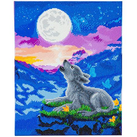Malen nach Zahlen Bild Heulendes Wolfsjunges - CAK-A123L von Craft Buddy