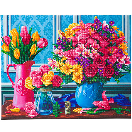 Malen nach Zahlen Bild Schöne Blüten - CAK-A126L von Craft Buddy