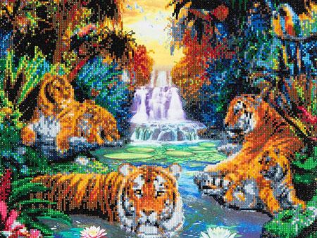 Malen nach Zahlen Bild Tiger im Paradies - CAK-A23 von Craft Buddy