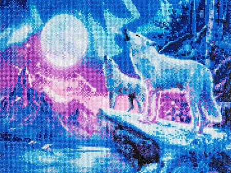 Malen nach Zahlen Bild Wölfe und Nordlichter - CAK-A27 von Sonstiger Hersteller