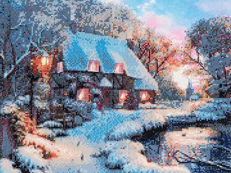 Malen nach Zahlen Bild Cottage im Winter - CAK-A30 von Sonstiger Hersteller