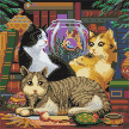 Die Katzen und das Fischglas