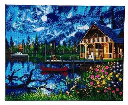 Hütte im Mondlicht