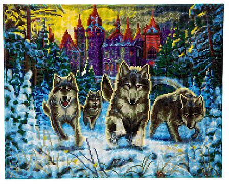 Flüchtende Wölfe