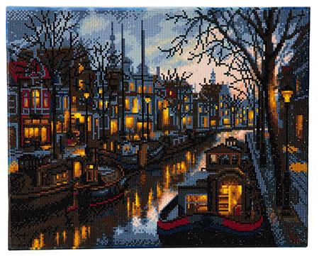 Malen nach Zahlen Bild Kanal im Amsterdam - CAK-A42 von Craft Buddy