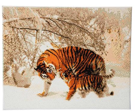 Malen nach Zahlen Bild Tiger im Winter - CAK-A43 von Sonstiger Hersteller