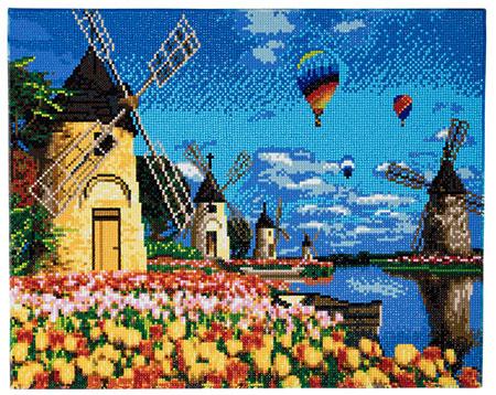 Malen nach Zahlen Bild Windmühlen und Tulpen - CAK-A48 von Sonstiger Hersteller