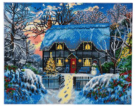 Malen nach Zahlen Bild Cottage zur Weihnachtszeit - CAK-A51 von Sonstiger Hersteller